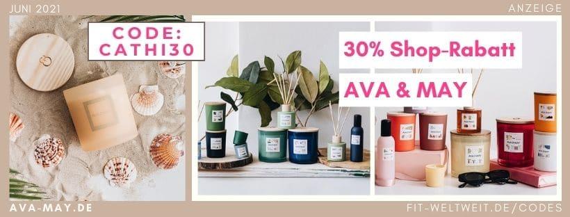 AVA MAY CODE Juni 2021 30% Rabatt und 50% Flashsales + free gift Gutschein