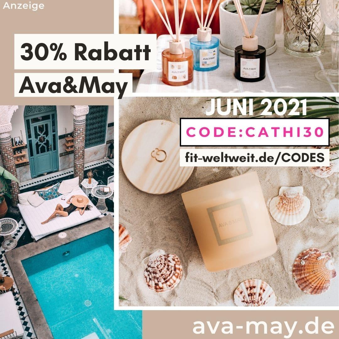 AVA and MAY RABATTCODE Juni 2021 30% Rabatt + 50% Flashsale free Gift Gutschein Codes