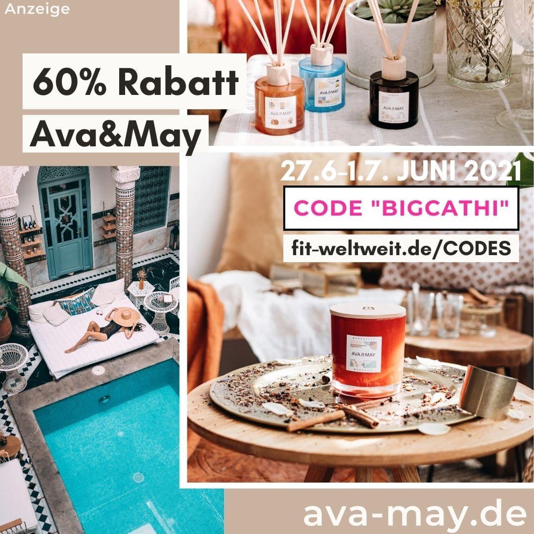 AVA and MAY Rabattcode 60% Rabatt 50% Gutscheincode Juni 2021