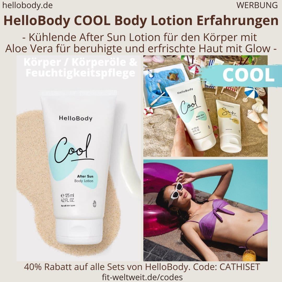 COOL After Sun Body Lotion HelloBody Erfahrungen Test Körperpflege Hello Body