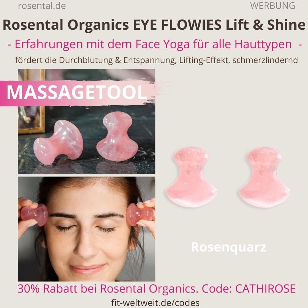 EYE FLOWIES Rosental Organics Erfahrungen Massagetool Test Massagetool