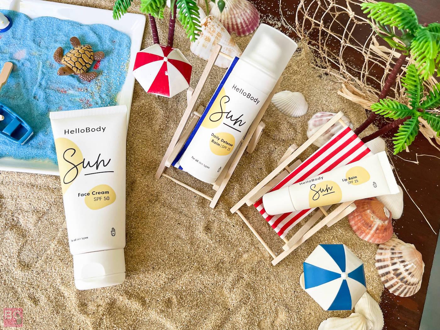HelloBody SUN Erfahrungen Face Cream LSF 50 Lippenbalsam LSF 25