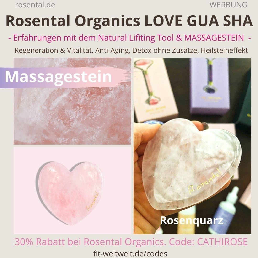 LOVE GUA SHA Anwendung und Erfahrungen mit dem Rosental Organics Massagestein