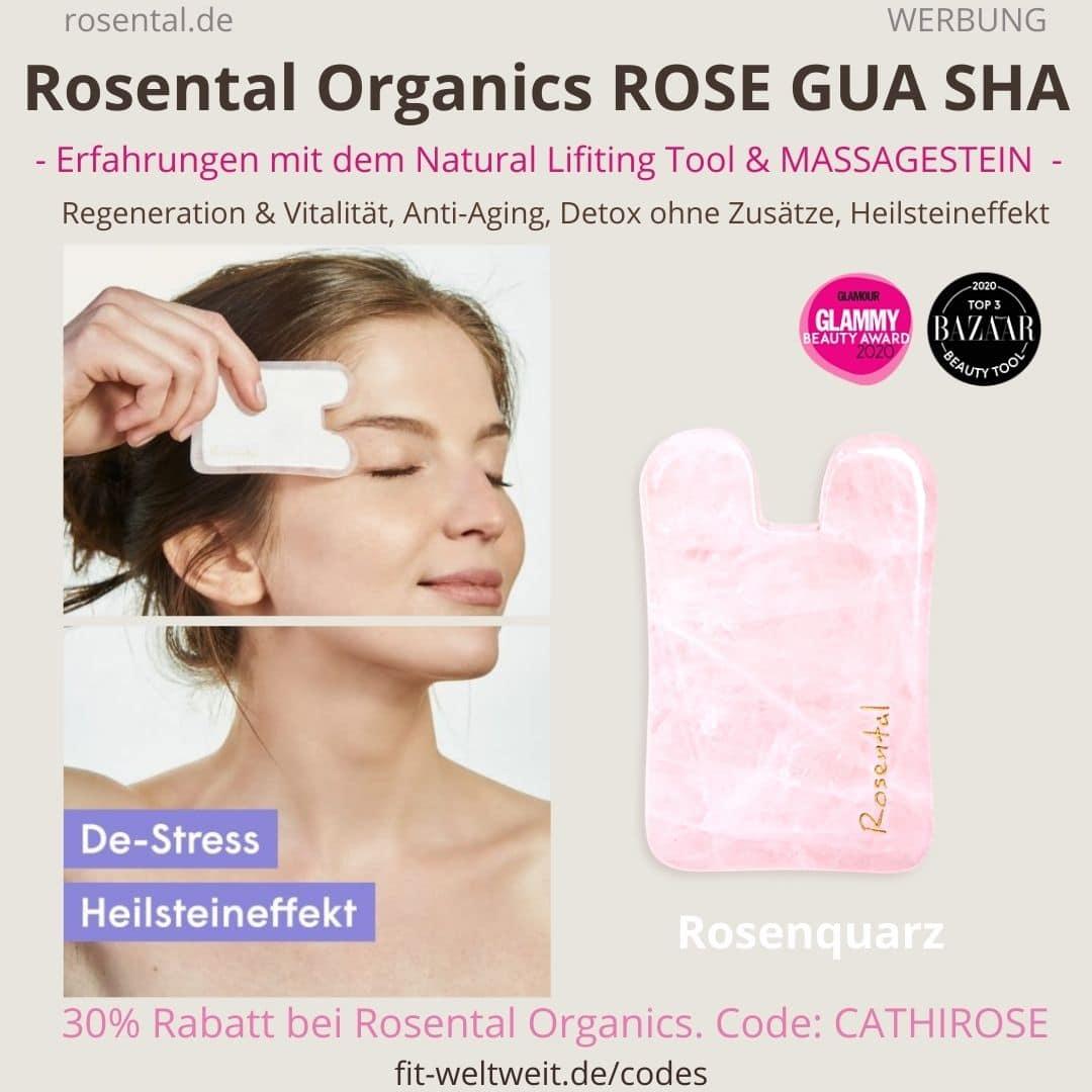 ROSE GUA SHA Rosental Organics Erfahrungen Natural Lifting Tool Test Massagestein