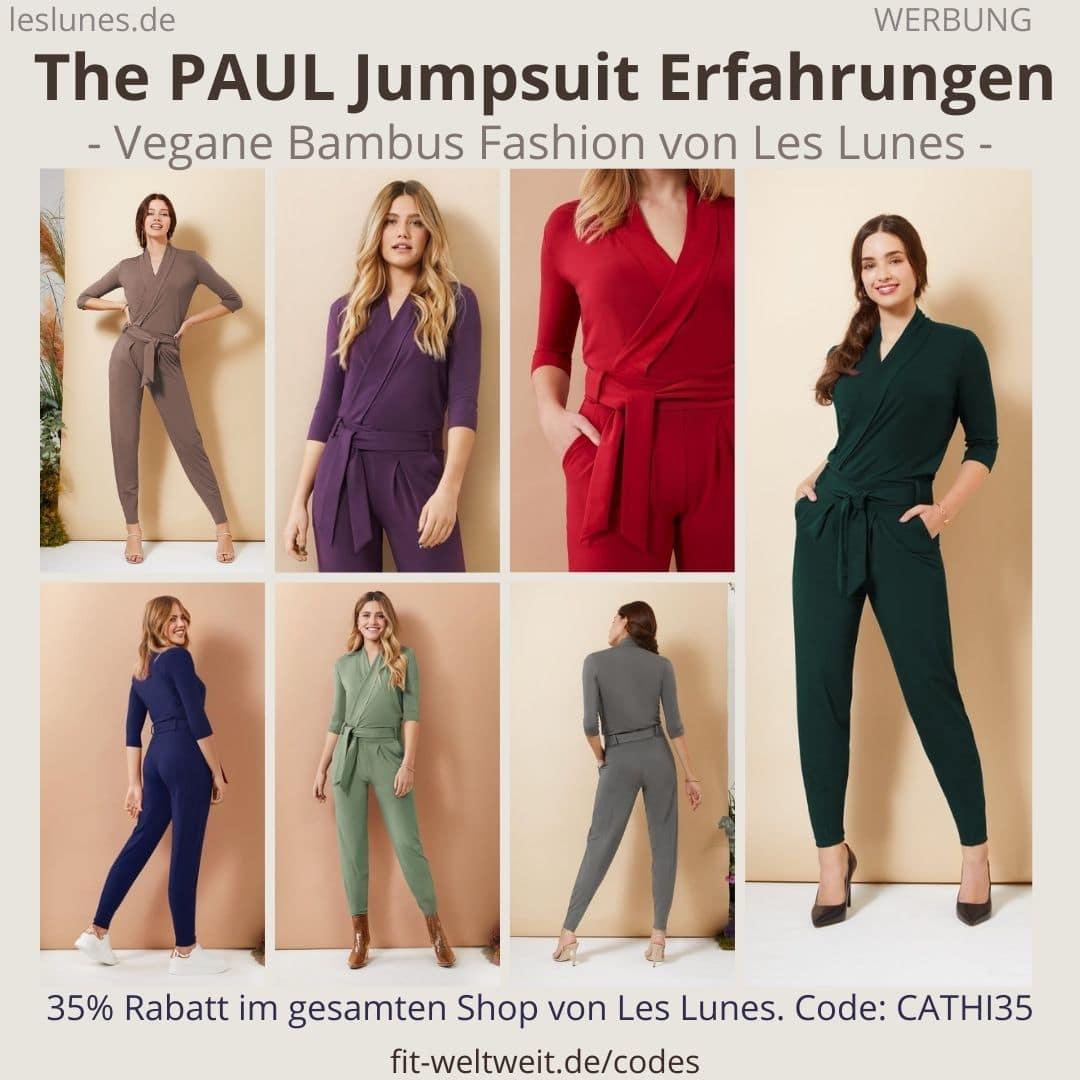 Der Bestseller The PAUL JUMPSUIT als Einteiler Overall. Meine Les Lunes Erfahrungen mit der richtigen Größe und dem Stoff.