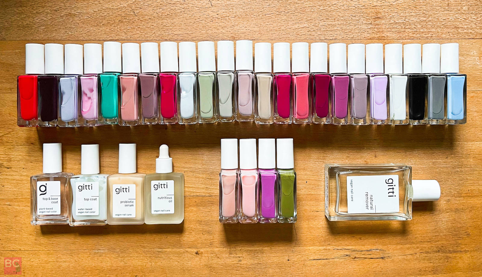 Gitti Nagellack Erfahrungen Produkte Farbauswahl Palette Rottöne blau grün