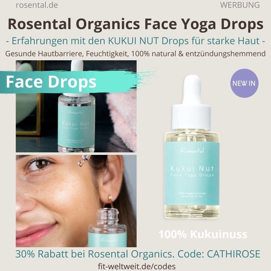 KUKUI NUT FACE YOGA DROPS Rosental Organics Erfahrungen Produkt Test