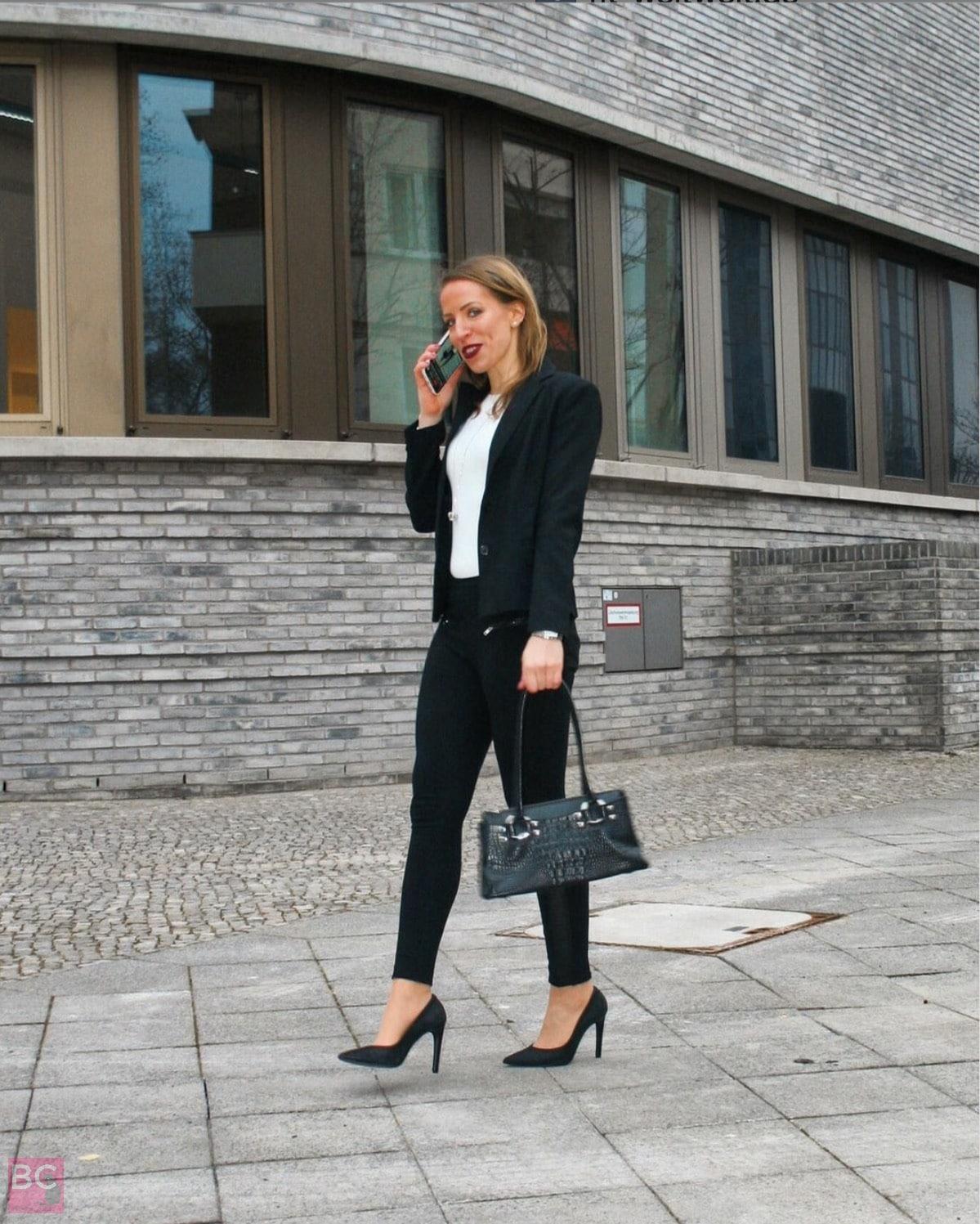 Les Lunes Bodysuit weiß Erfahrungen fitweltweit.cathi Business Outfit OOTD