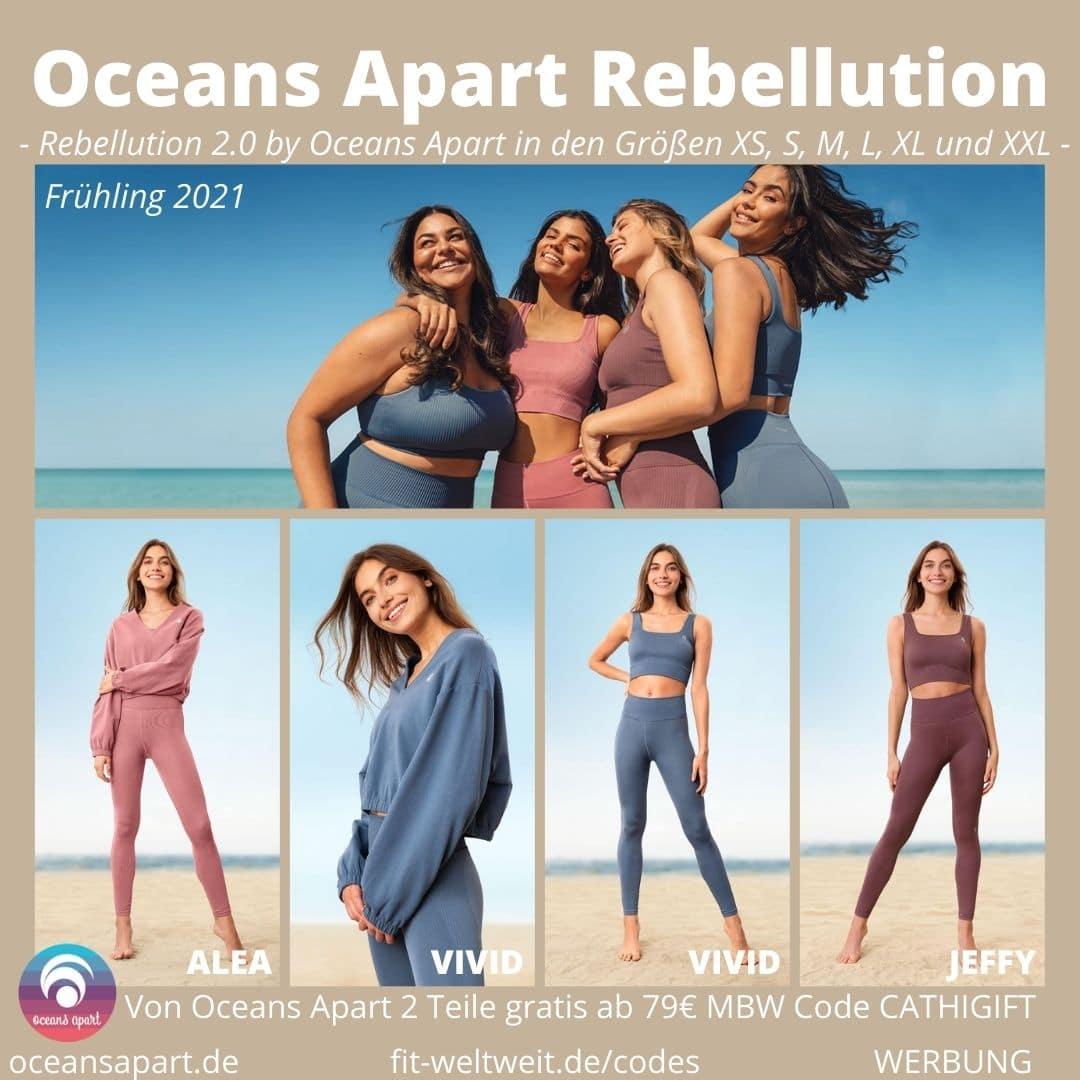 OCEANS APART REBELLUTION aus Alea Set (Deluxe), Vivid Set (Deluxe) und Jeffy Set. Größen Passform
