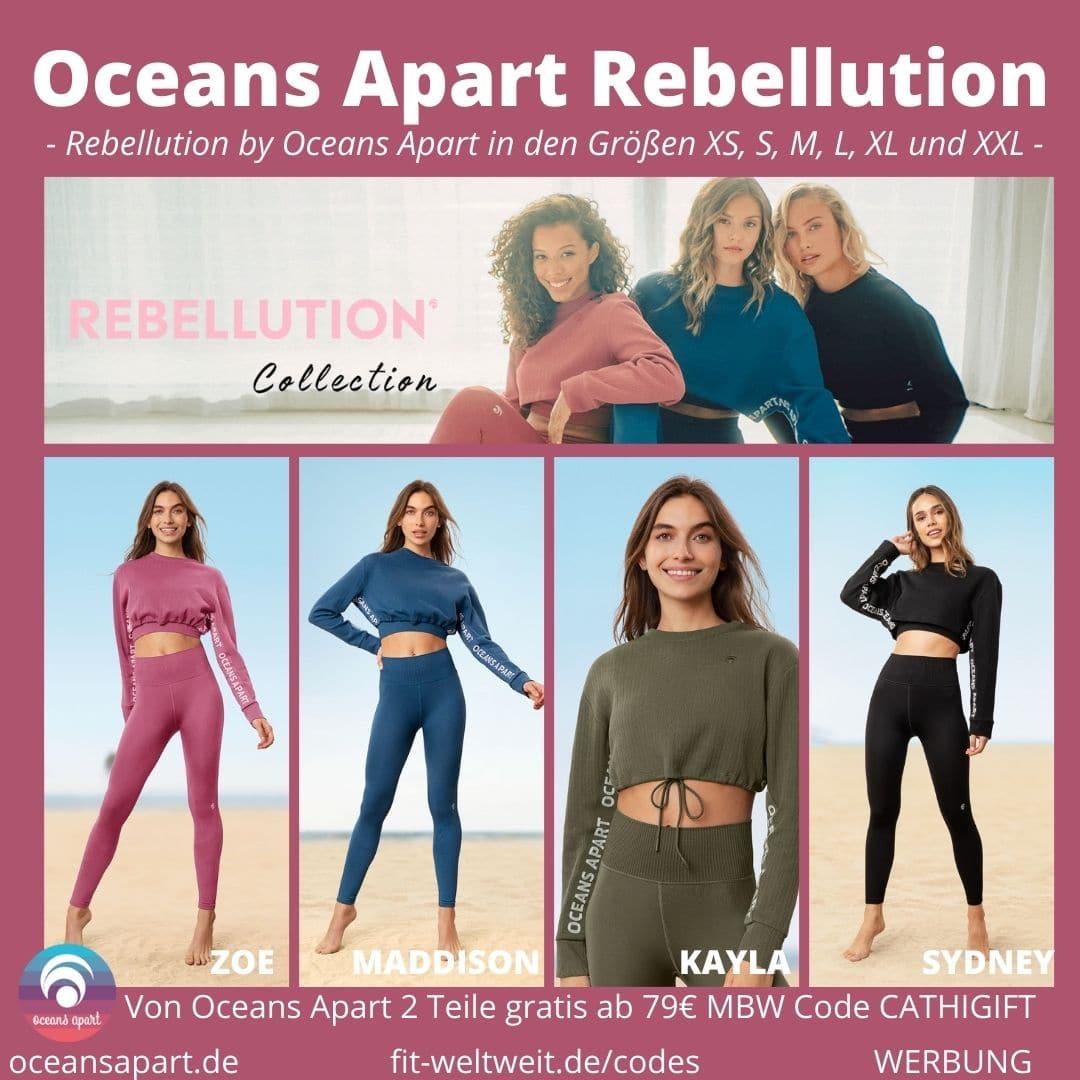 OCEANS APART REBELLUTION Zoe Set (Deluxe), Maddison Set (Deluxe), Kayla Set (Deluxe) und Sydney Set (Deluxe) Größen Passform
