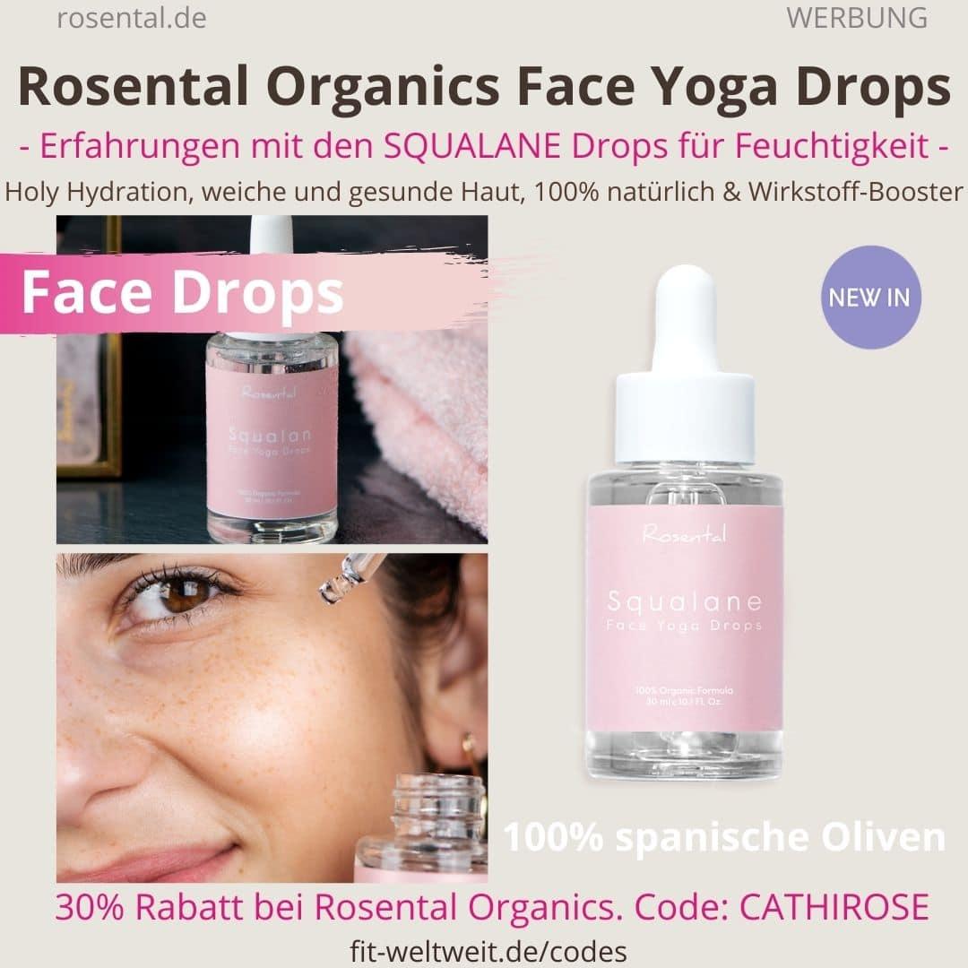 SQUALANE FACE YOGA DROPS Rosental Organics Erfahrungen Produkt Test: SQUALANE FACE YOGA DROPS von Rosental Organics. Meine Erfahrungen mit Face Yoga und den Drops.