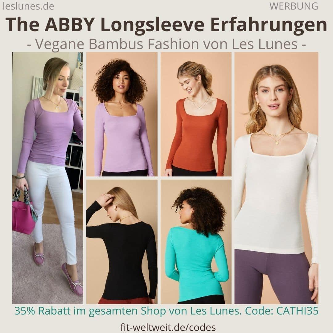 Das The ABBY LONGSLEEVE ist ein Pullover Sweatshirt von Les Lunes. Eins meiner absoluten Lieblingsteile, mega Erfahrungen gemacht mit der Größe und dem Stoff (Farbe Lilac)