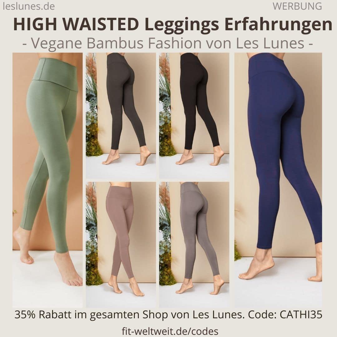 Die The HIGH WAISTED LEGGINGS eine eine Hose / Pants von Les Lunes mit weichem und blickdichtem Stoff. Meine Erfahrungen mit der Größe hier.