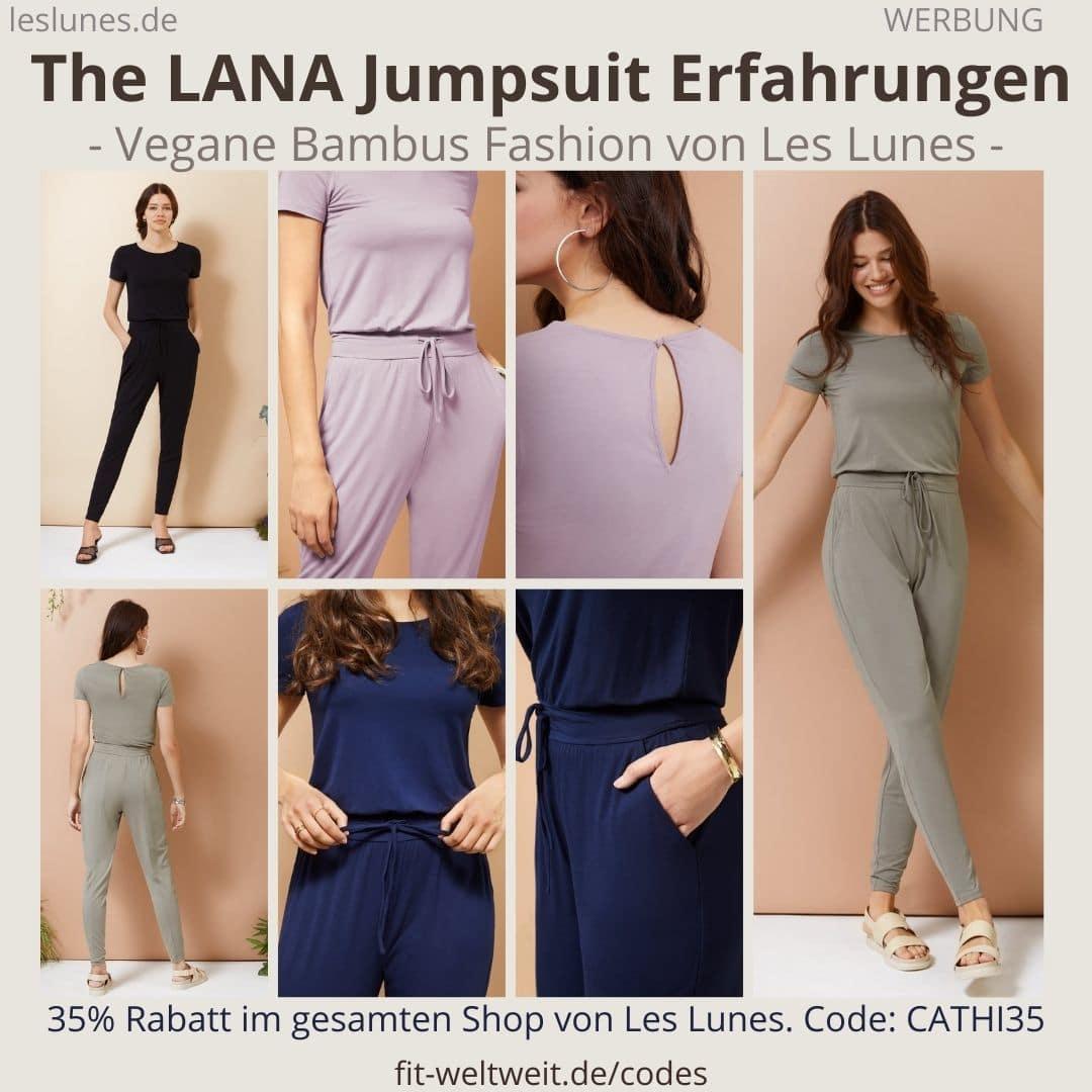 The LANA JUMPSUIT als Einteiler Overall. Meine Les Lunes Erfahrungen mi der passenden Größe und dem weichen Stoff.