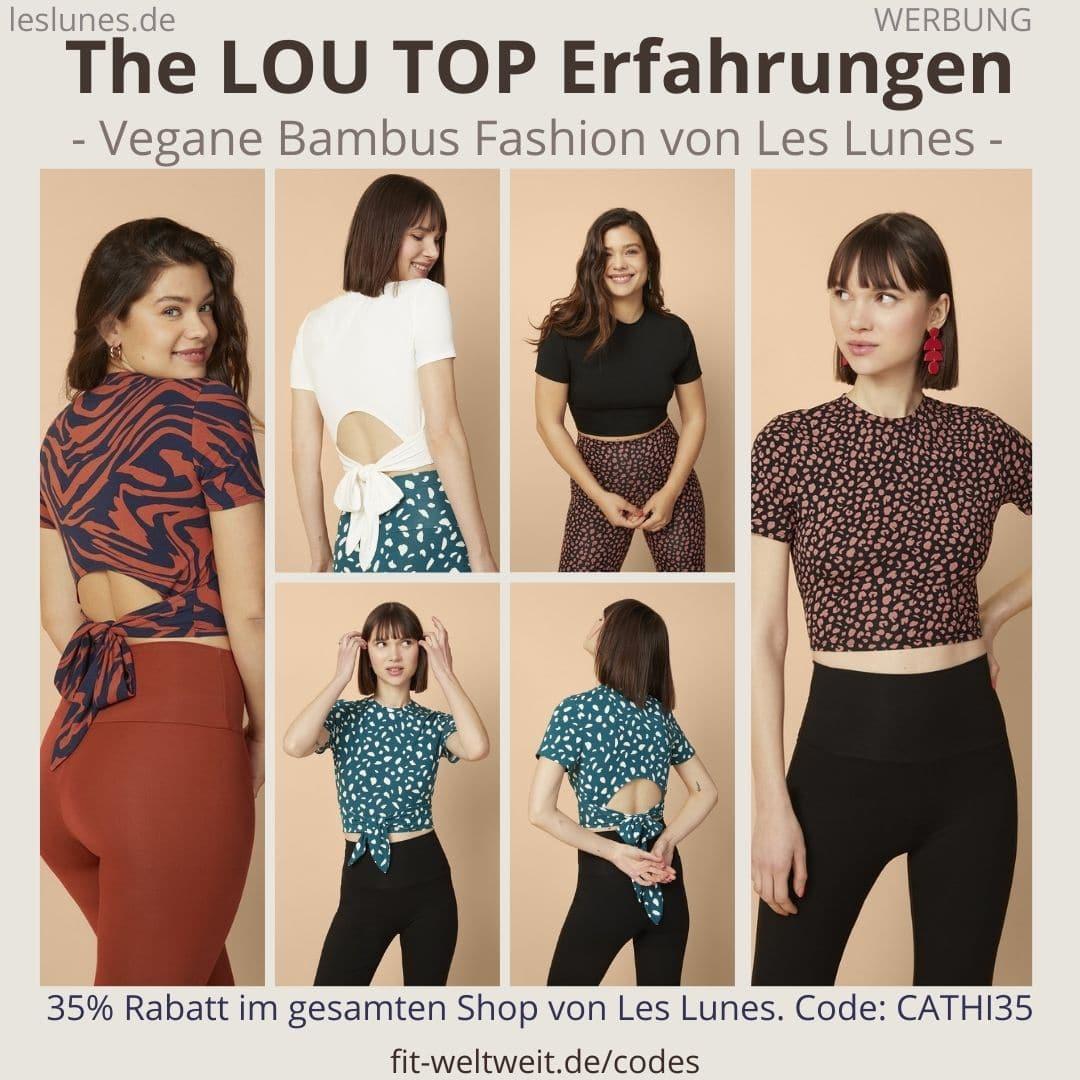 Das The LOU TOP ist ein süßes Oberteil / T-Shirt von Les Lunes mit Rückenausschnitt. Meine Erfahrungen mit der Größe und dem Stoff aus Bambusviskose gibt es hier.