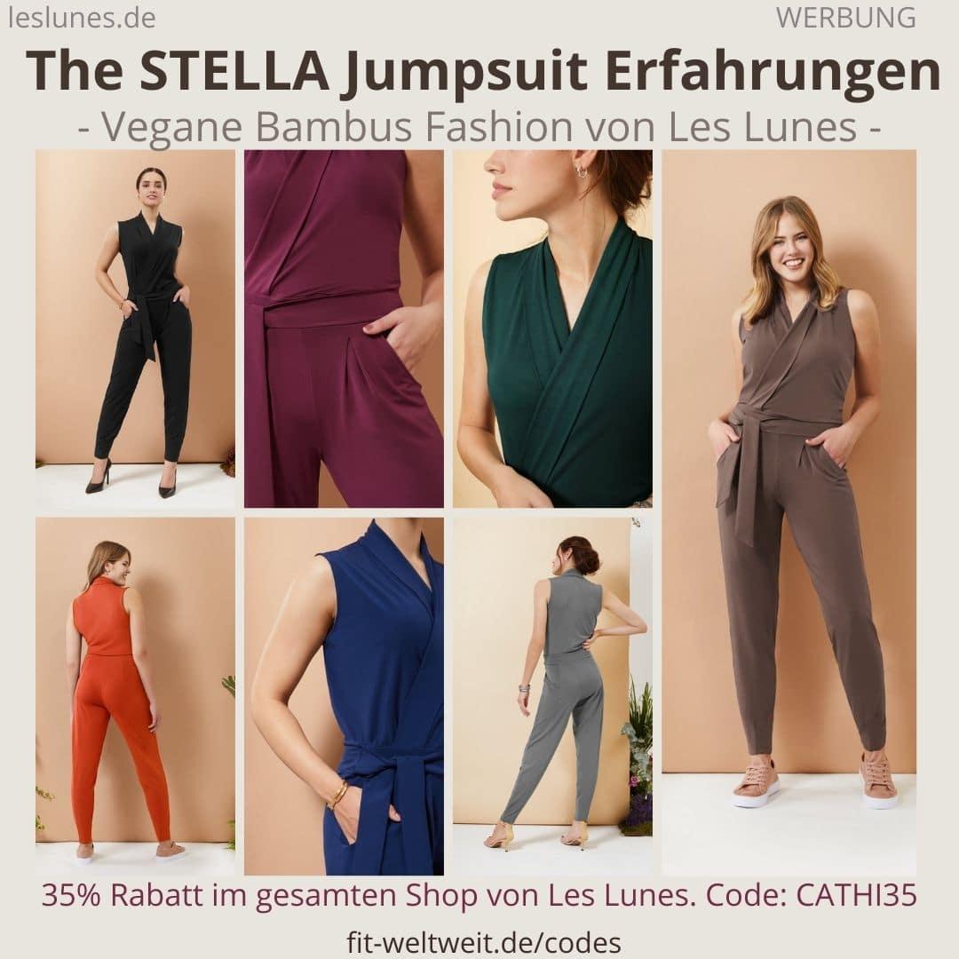 The STELLA JUMPSUIT ist ein Einteiler Overall von Les Lunes. Meine Erfahrungen mit der passenden Größe und dem Bambus Viskose Stoff