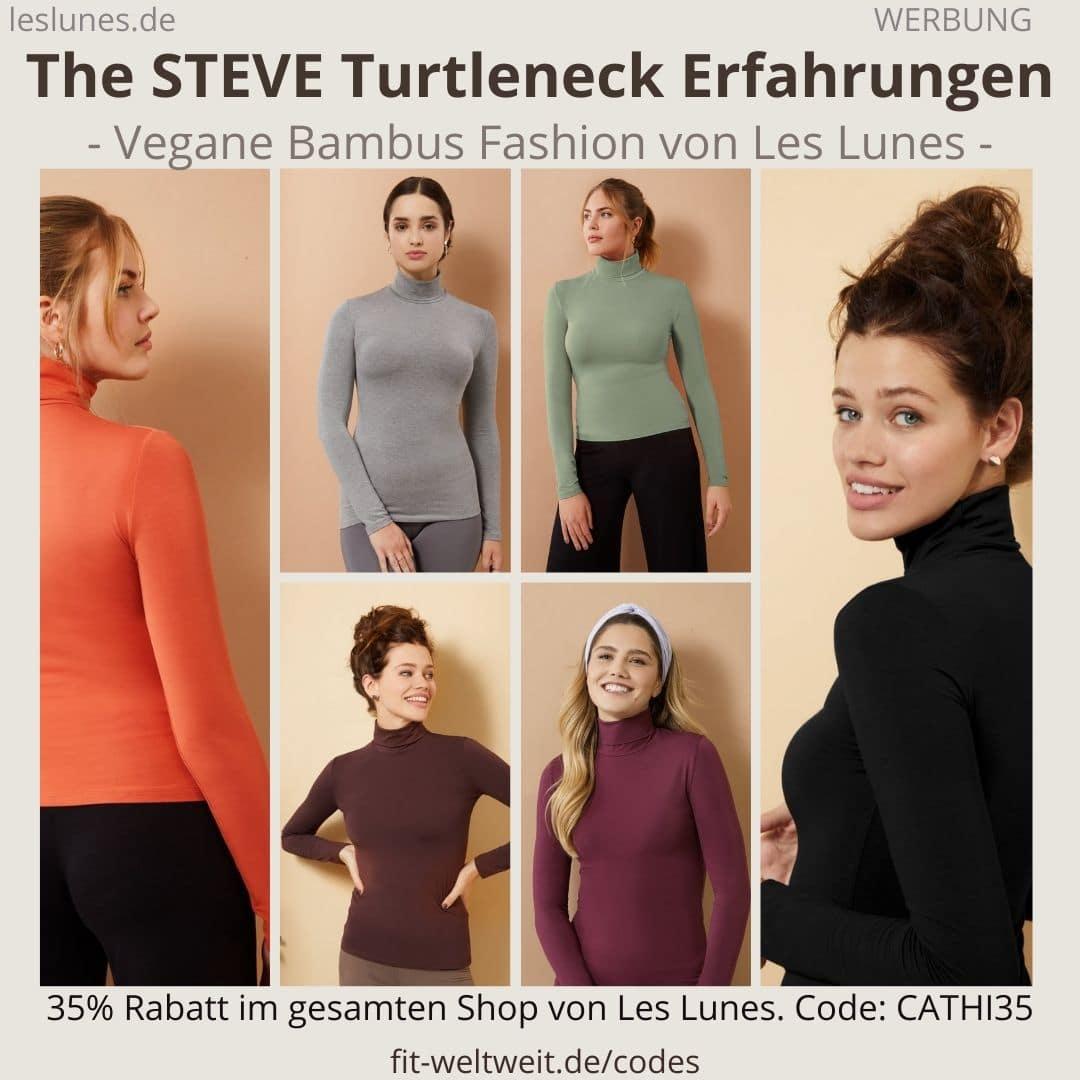 Der The STEVE TURTLENECK ist ein Rollkragen Pullover von Les Lunes. Ich habe richtig tolle Erfahrungen gemacht und eine lockere Größe in S.