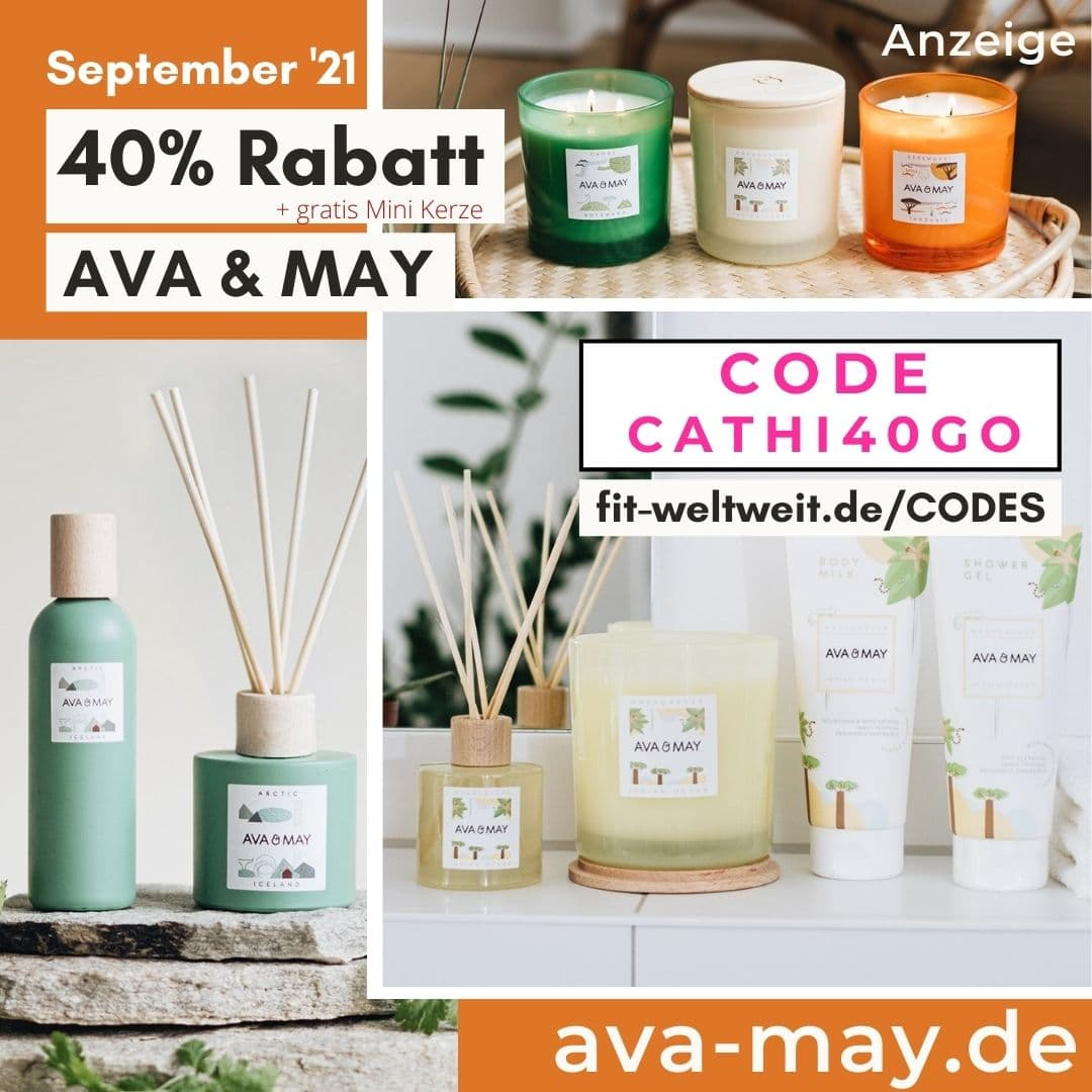 40% Rabatt + free Gift AVA and MAY Rabattcode für Oktober 2021 Gutschein Code