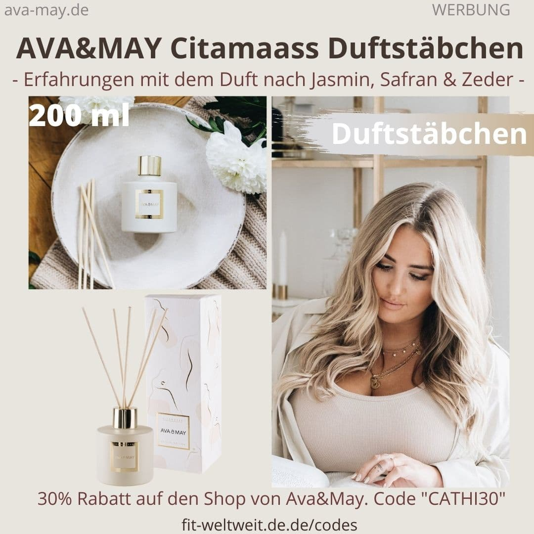 AVA and MAY Citamaas 200ml Duftstäbchen Special Edition