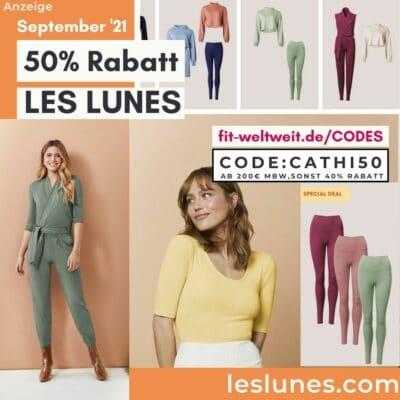 Aktion Les Lunes Code 50% Rabattcode September 2021 40% Rabatt auf alles ohne MBW