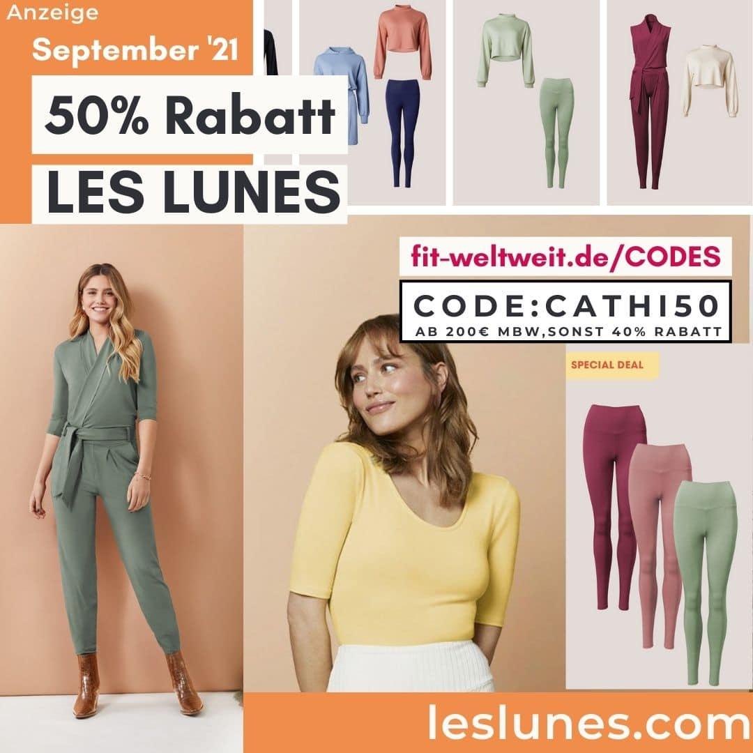 Aktion Les Lunes Code 50% Rabattcode Oktober 2021 40% Rabatt auf alles ohne MBW