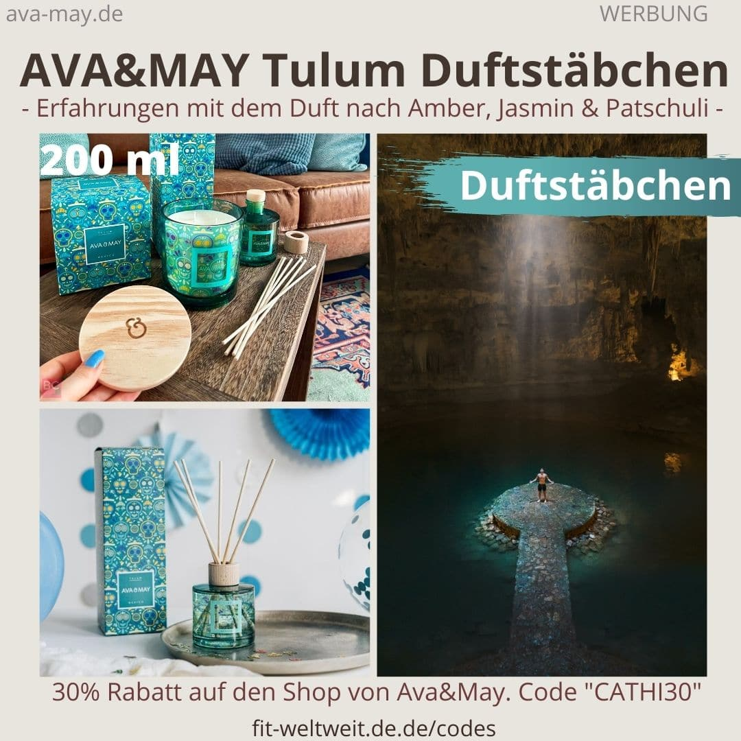 Erfahrungen AVA and MAY Tulum 200ml Duftstäbchen Mexico