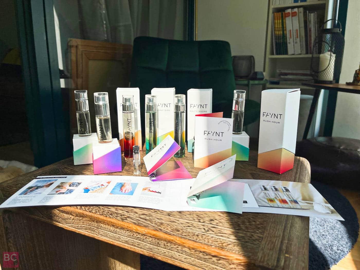 FAYNT Parfüm Erfahrungen mit allen Düften Parfums Sorten