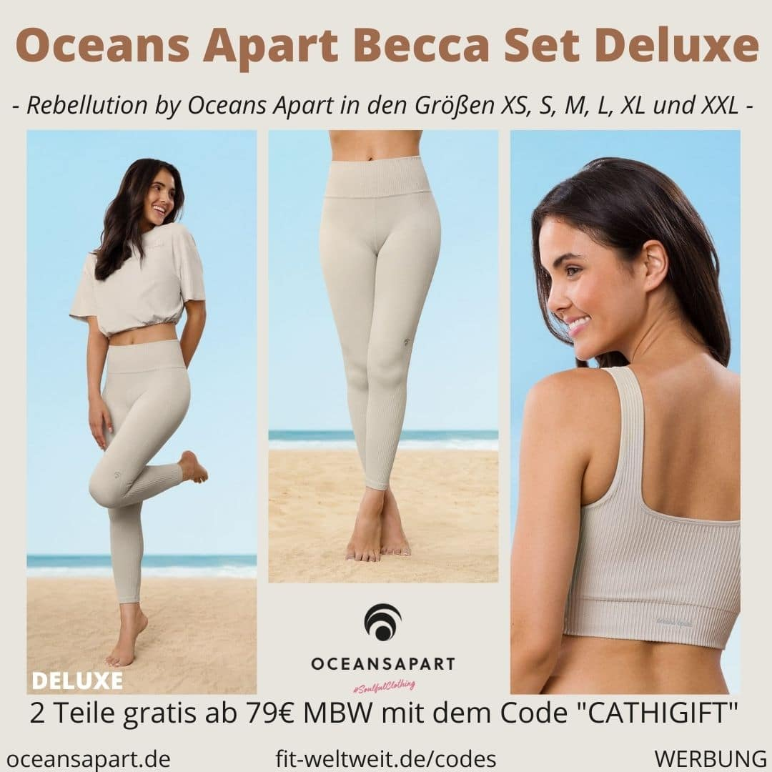 Oceans Apart BECCA SET DELUXE ERFAHRUNG Größe pant bra cropped shirt rebellution collection