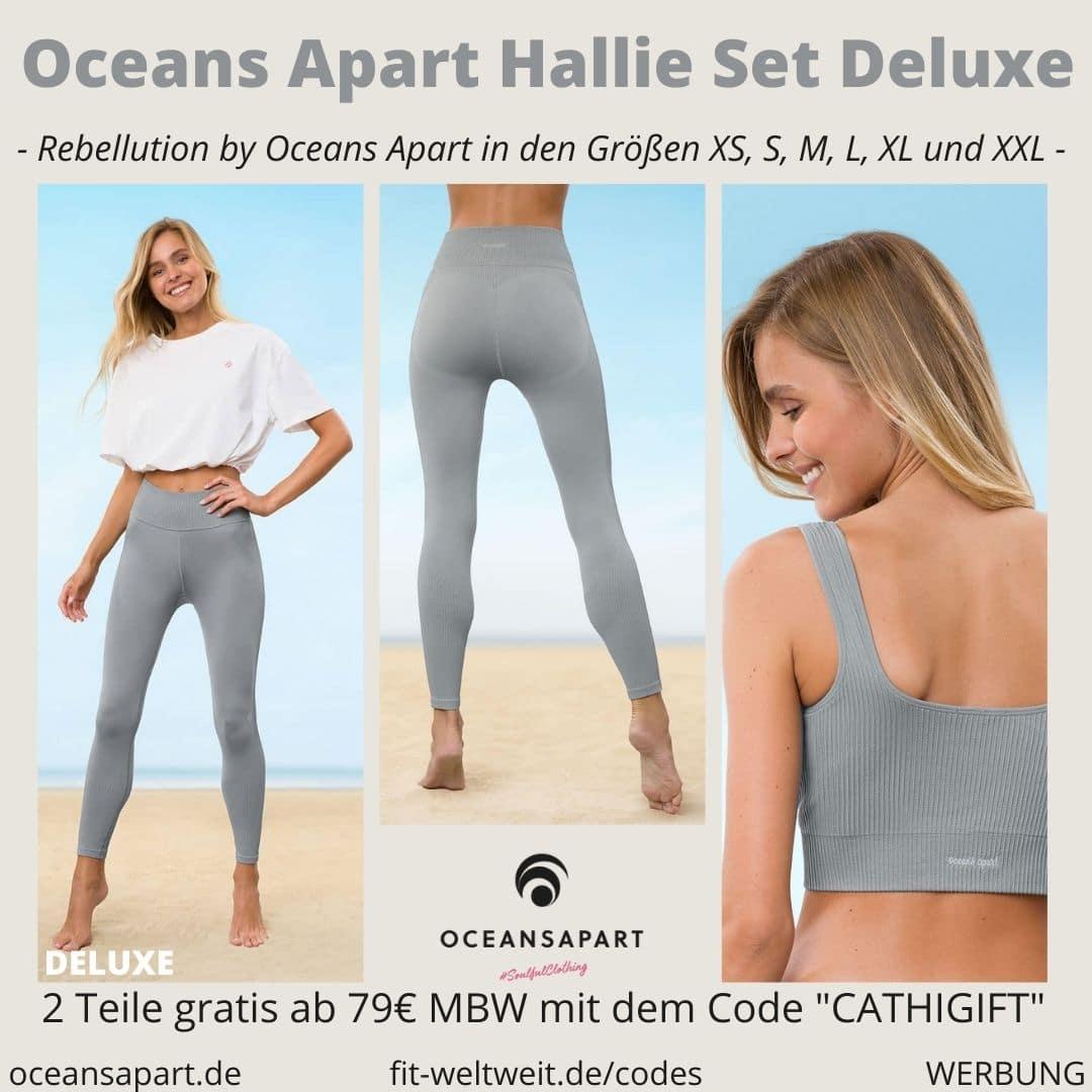 Oceans Apart HALLIE SET DELUXE ERFAHRUNG Größe pant bra alisa cropped shirt rebellution collection