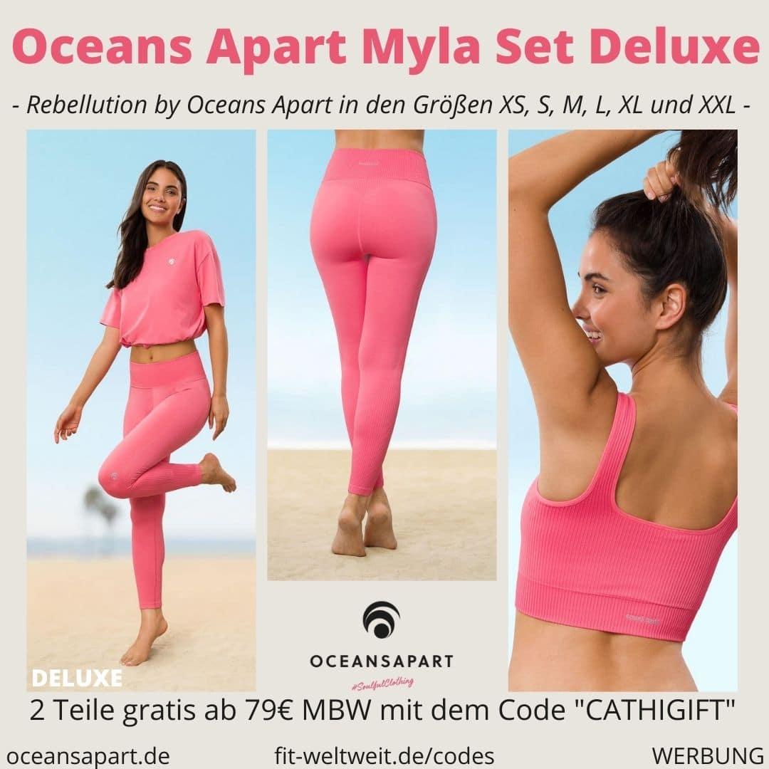 Oceans Apart MYLA SET DELUXE ERFAHRUNG Größe pant bra cropped shirt rebellution collection