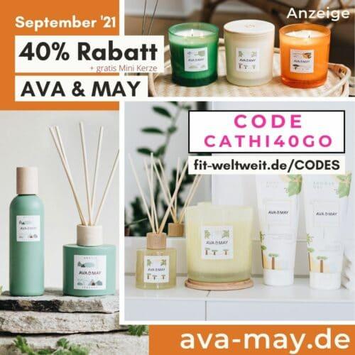 40% Rabatt + free Gift AVA and MAY Rabattcode für September 2021 Gutschein Code