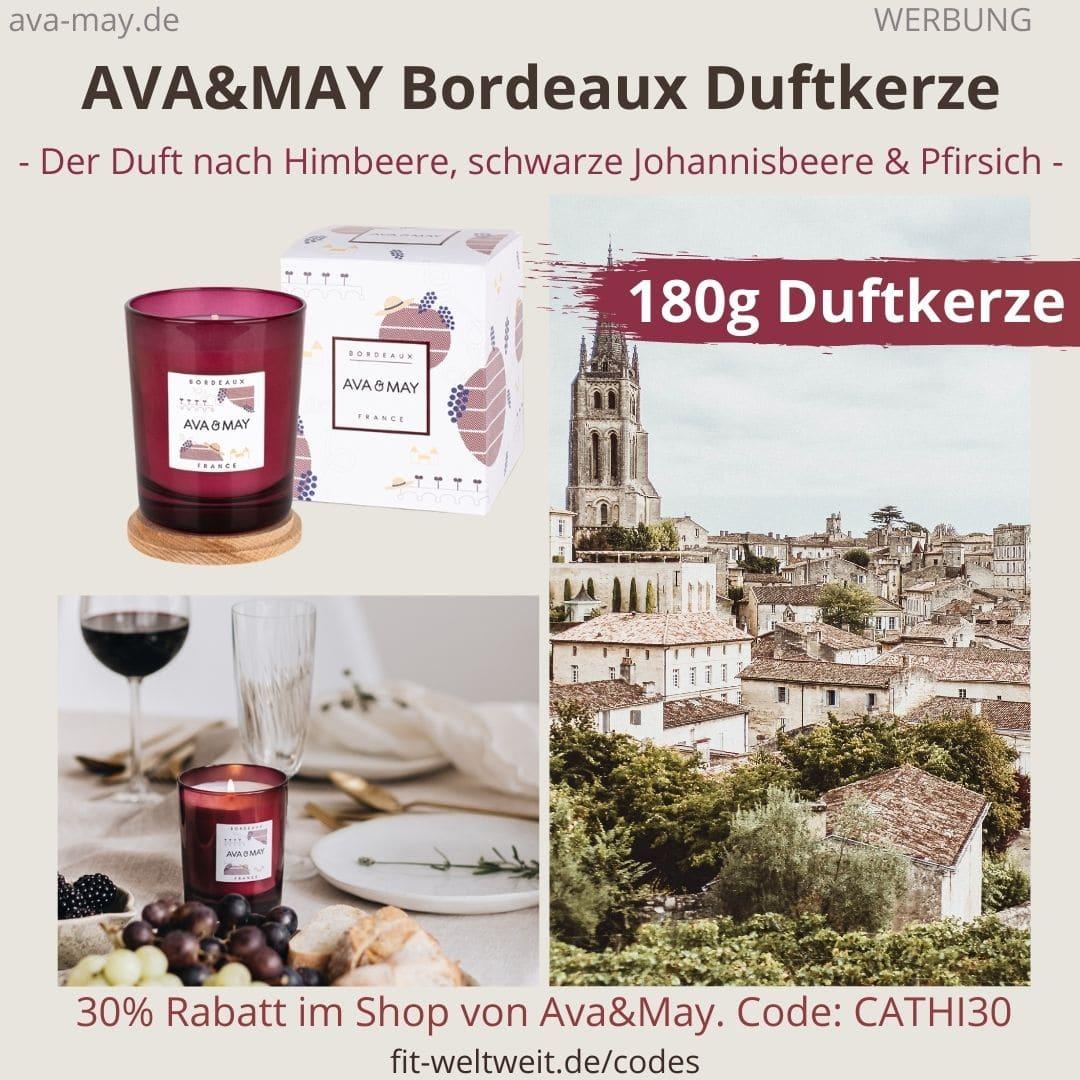 Ava & May Bordeaux France Duftkerze Erfahrungen