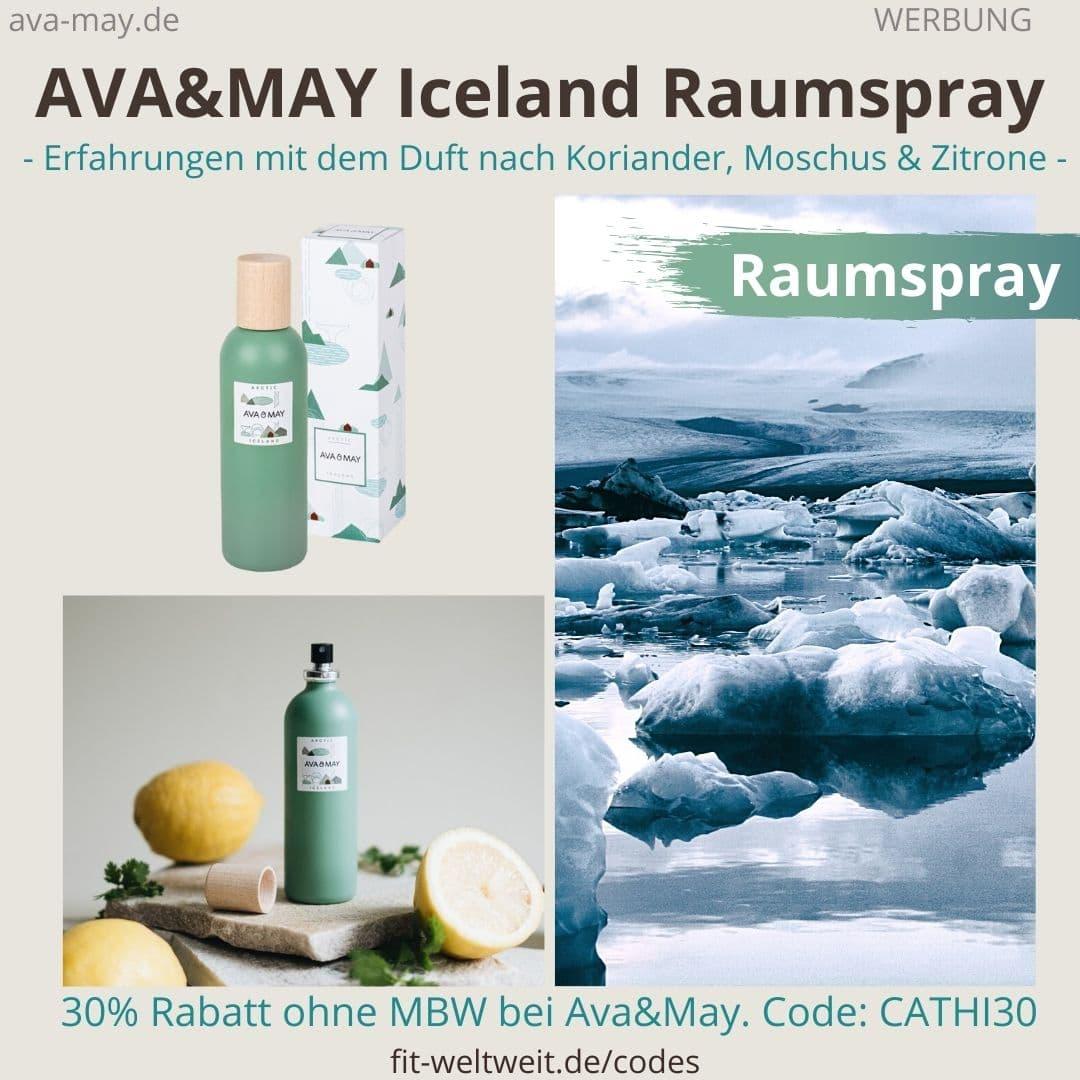 Erfahrungen AVA and MAY Iceland 100ml Raumspray Erfahrungen Arctic