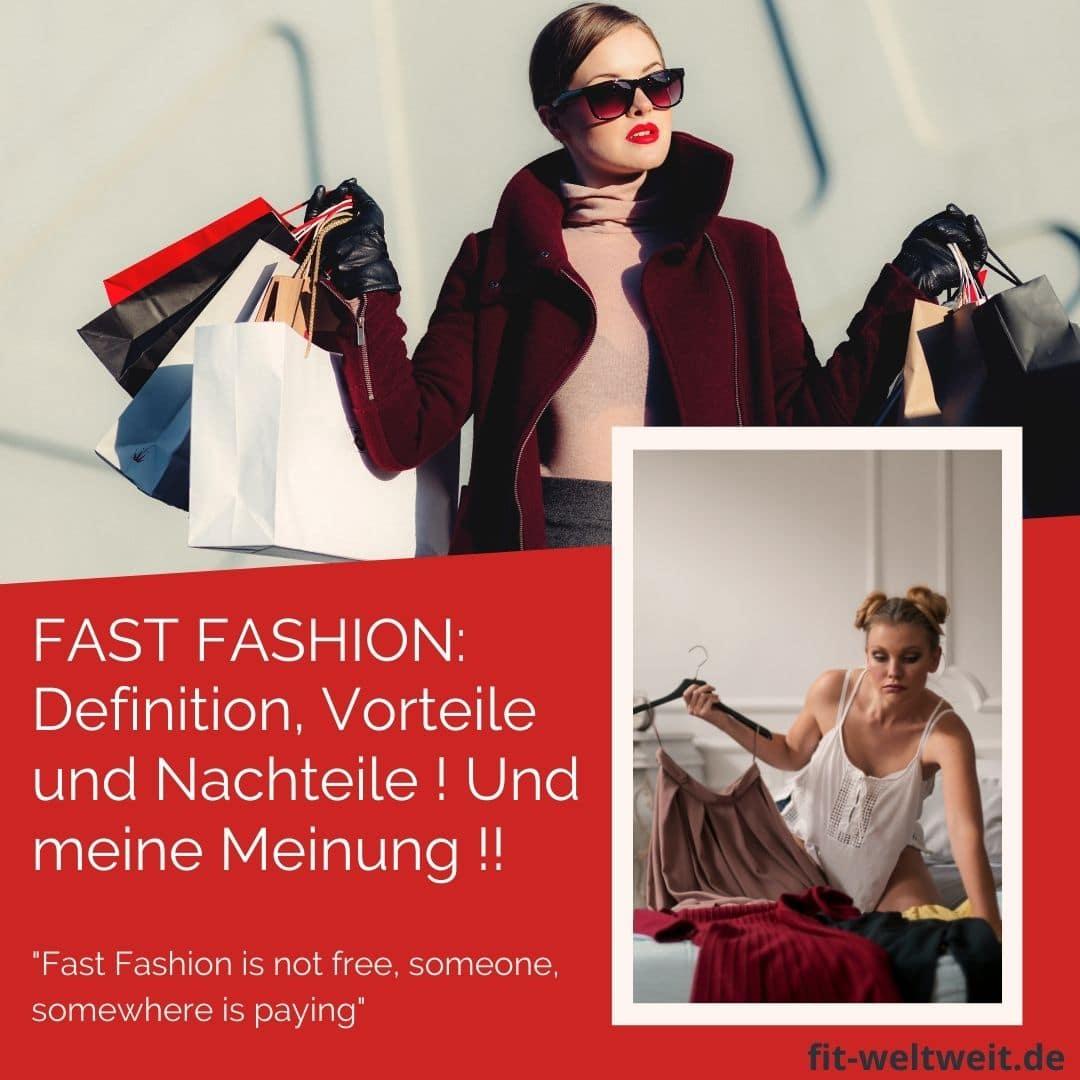 FAST FASHION DEFINITION VORTEILE NACHTEILE Billig Shopping Meinung