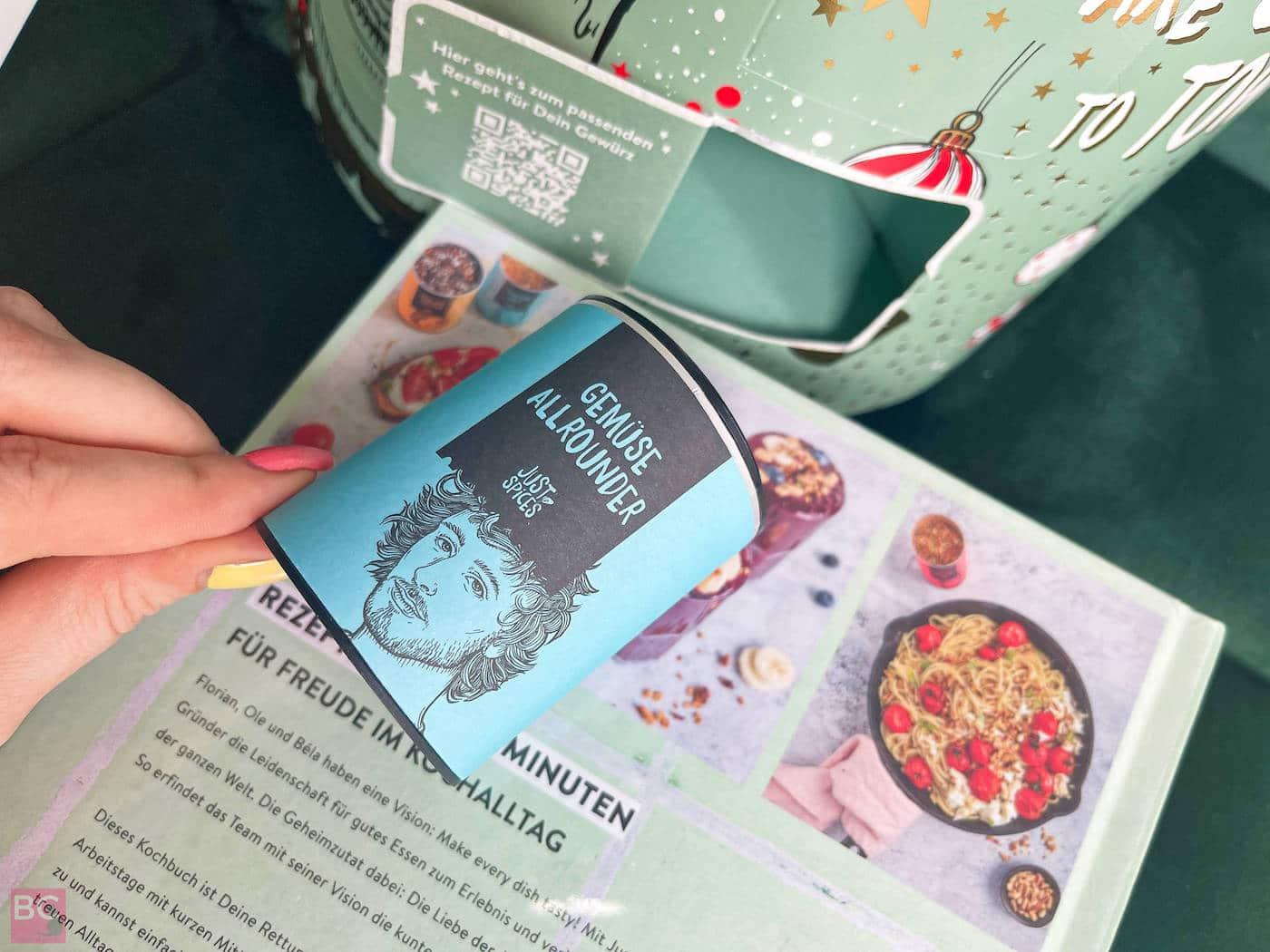 Just Spices Adventskalender Inhalt und passende Rezepte 2021