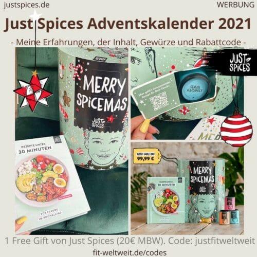 Just Spices großer Adventskalender 2021 Erfahrungen Gewürze alle Inhalt
