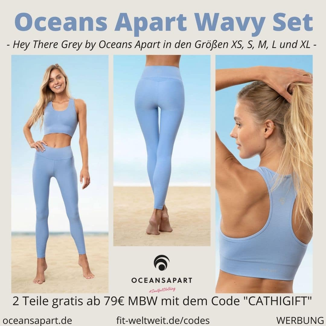 Oceans Apart WAVY SET ERFAHRUNG Größe Wave Bra Pant hey there grey