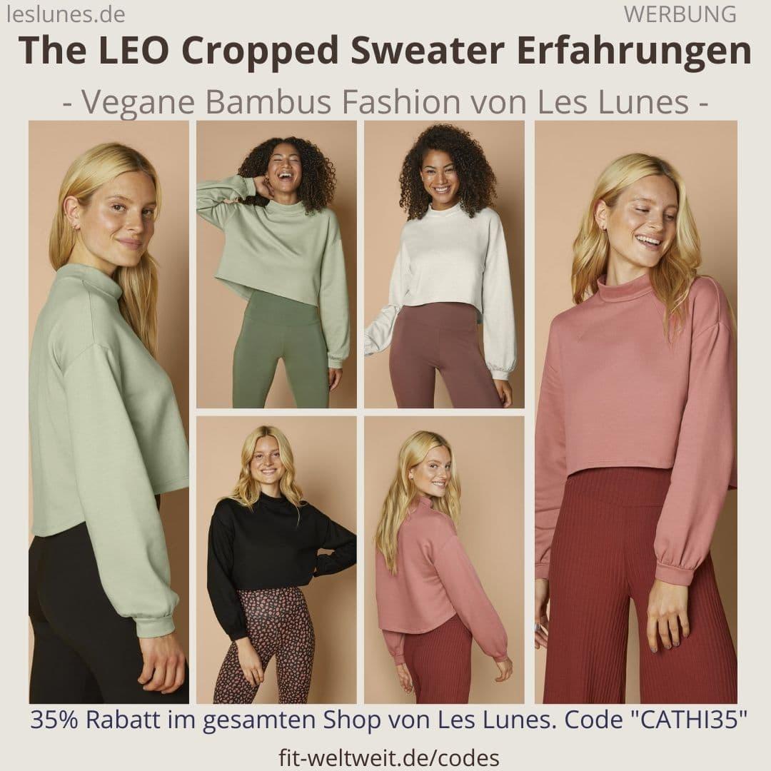 The Leo Cropped Sweater LES LUNES ERFAHRUNGEN Stoff Passform Größe Retoure