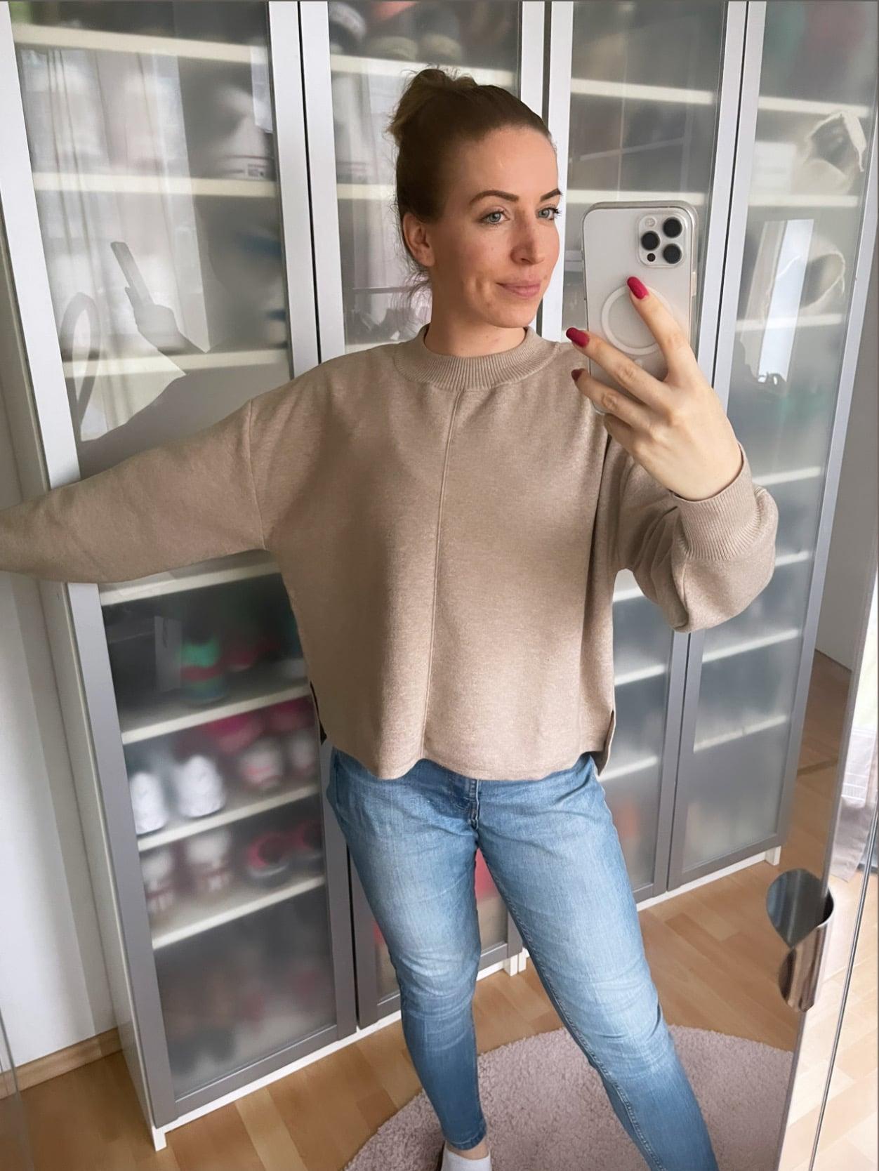 The Nola Sweater von Les Lunes in Beige melange